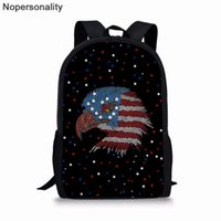Nopersonality US Flag Dog Eagle Print Animal School Bags For Teenager Girls Boys Schoolbag Kids Book Bag Primary Backpack