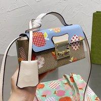Lussurys Designer Designer Signore di alta qualità 2022 sacchetto di lembo della fragola della fragola borsa delle donne di modo delle borse della madre delle borse delle borse della madre delle borse del raccoglitore della mela