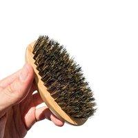 10pcs 8x4x3cm Setole di cinghiale Bamboo barba Brush Bustache Combino uomo Face Massage Combs