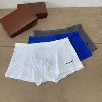 Fashion Classic underpants Men Boxers Designers breathable Quick dry premium comfort senior A box with 3 pieces of underwear