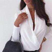 Футболка Subsky Женщины осень с длинным рукавом вершины сексуальные глубокие Vege Vegan одежда Элегантная 2021 Vogue Street White Tee рубашка Feminina