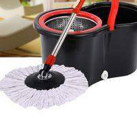 Limpieza de paños Reemplazo 360 Cabeza giratoria Easy Magic Microfiber Spinning Spoot Mop para Housekeeper Inicio