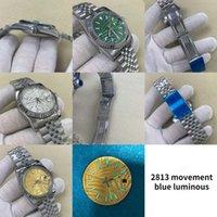 손목 시계 날짜 - 그냥 디자인 망 시계 탑 시계 남자 기계 손목 시계 스테인레스 스틸 방수 2813 자동