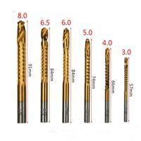 드릴 비트 뜨거운 신제품 6 in 1 고속 전기 드릴 도구 세트 얇은 나무 알루미늄 합금 및 플라스틱 보드 LLF9080