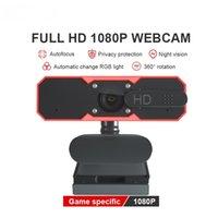 Bildrate 30FPS 1080P Autofokus-PC-Kamera mit Mikrofon und Lautsprecher HD Webcam Ringlicht USB