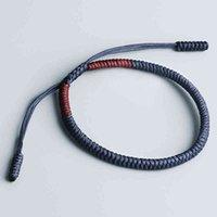 Pulsera de la cuerda afortunada tibetana hecha a mano Pulsera de la cuerda de los hombres Lealtad de los hombres Tamaño ajustable para las mujeres