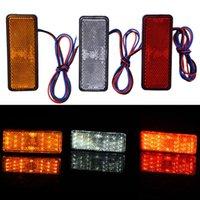 Noodverlichting Motorfiets Reflector Tail Brake Turn Signal Light Lamp Auto ATV LED Reflectors Truck Side Warning Rectangle 24