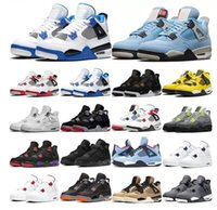 2021 basketball shoes 4s jumpman 4 men and women college blue black cat white cement fiery red cool gray racing sports 36-47