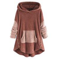 Women's Hoodies & Sweatshirts Women Sweatshirt Winter Long Sleeve H Fluffy Jumper Pull Femme Autumn Hooded Fleece Pullover Blusas Wholesales