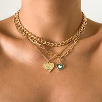 Pendant Necklaces Ingemark Vintage Angel Heart Cross Chain Necklace For Women Charm Goth Men Choker Neck Aesthetic Halloween Y2k Jewelry
