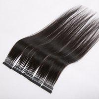 5pcs lot 40-70cm 100% Hu Virgin Natural 6D Hair Extension