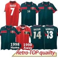 1998 Retro Marocco Calcio Calcio Jersey Ouakili Neqrouz Bassir Abrami Ancient Maillot El Hadrioui Hadji Camicia da calcio per adulti