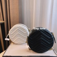 Дизайнер сумки сумки мини ручной сумки Chian Bag Bag женская кожаная сумка женские маленькие круглые сумки мешок мешок сумки кошелька сумка с коробкой