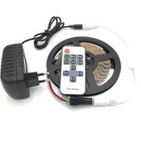Nein wasserdicht 600 LEDs LED-Licht 5m 3014 Streifen 5mm Weiß Warm + 12V2A Netzteil + 11Keys RF Controller + DC-Steckstreifen