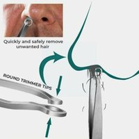 Electric Nose & Ear Trimmers Hair Trimming Tweezers Trimmer Tweezer Round Perfect Removal Steel Tip Tweez L0q5