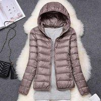 Women's Jackets 2021 Hooded Spring Autumn Coats Causal Windbreaker Women Basic Zipper Lightweight Famale Parkes