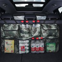Car Organizer Rear Seat Back Storage Bag Multi Hanging Nets Pocket Trunk Auto Stowing Tidying Interior Accessories