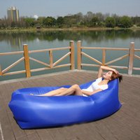 Candy Color Outdoor Gonfiabile Lazy Sofà Garden Yard Park Beach Camping Picnic Bed Poliestere Oxford Panno Air Pads