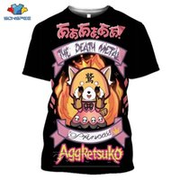 SONPEE MUERTE METAL KARAOKE KALA AGRETTSUKO AGRANSIVO Retsuko Mens T Shirts Casual 3D PTint Camiseta de manga corta Ropa de las mujeres 210324