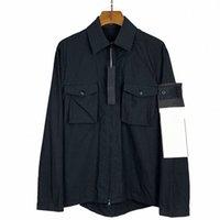 Tasarımcı Taş Ceket Rahat Adası Pamuk Gömlek Erkekler Rüzgarlık Kadın Ceket Rozeti Cep Hayalet Serisi Ceketler Moda Mont Lover Giyim Nakış Outerw S8QA #