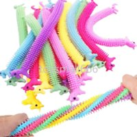 24H DHL Unicorn Stretchy String Fidget Toys, Therapy Sensory Toys Anxiety Squeeze Monkey Noodles for Kids and Adults with ADD ADHD 2021