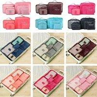 Duffel Bags 6Pcs Travel Organizer Bag Clothes Pouch Portable Storage Case Luggage Suitcase Fashion Casual Unisex Multifunction