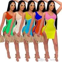 Casual Women Dresses Summer Fashion Women's Digital Printing Breast Wrapped Double Zipper Sleeveless Split Buttock Dress