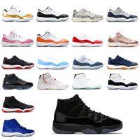 2021 Jumpan Hommes Femmes 11 Chaussures de basketball 11S Concord Bas High Pantone Space Space Gamma Blue Cap et Robe Baskets Baskets EUR 36-46 W2XF #