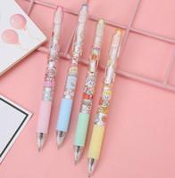 Cute press gel pen metal hook hemp ball pen soft cute girl heart press pen wholesale
