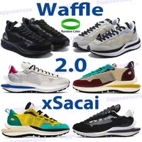Waffle 2.0 Koşu Ayakkabıları Üçlü Siyah Beyaz Duman Gri XSACAI Erkek Sneakers Tur Sarı Stadyum Yeşil Oyunu Kraliyet Erkek Kadın Spor Eğitmenler ABD 7-11
