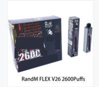 Original Qst Randm Flex Dispositivo Dispositivo Kit 2600 Puffs 1000mAh Bateria Preffurada 8,5ml Vape Vape Vape Vapor Pen Bar Mais 100% Authentic Barra de Air Max Bang XXL