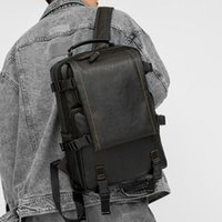 Backpack 2021 Fashion Casual Leather PU For Men Travel Large Capacity Daypack Teenage Student Schoolbag Laptop Bag Trendy