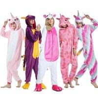Pajama Adult Animal Stitch Onesie Boys Girls Women Men Couple Winter Suit Sleepwear Flannel Pijama 210915