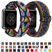 Braided band for Apple watch strap 44mm 40mm 38mm 42mm adjustable nylon elastic iwatch series 3 4 5 6 SE Bracelet