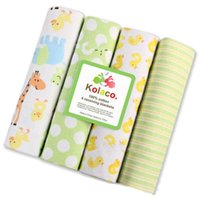 Newborn Blanket Baby Swaddle Bath Towels Flannel Cotton Towels Air Condition Towel Cartoon Printed Swaddling Stroller Cover OWA8736