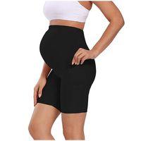 Fondos de maternidad Leggings de verano Mujer Mini Yoga Fitness Deportes Alto Cintura Vientre Pantalones Embarentes Slim Fashion Legging Shorts
