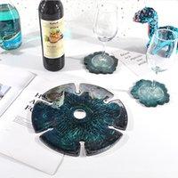 DIY эпоксидная плесень кристалл домодельный силиконовый смол какастры геометрические круглые винные стеллажные формы дома кухня декор GGA4376