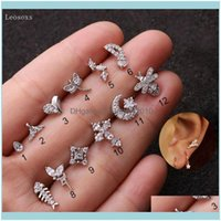 Stud Earrings Jewelrystud Leosoxs 2Pcs Explosive Personality Zircon Insect Ear Studs, Exquisite Piercing Jewelry Drop Delivery 2021 L3Qb0