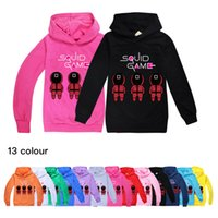 13-color Squid game children's Hoodies & Sweatshirts clothing boys and girls hooded sweater 1355 Baby Kids Top