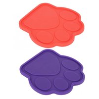 Silicone Non-slip Pet Dog Lick Pad Mat Cute Shape With Fixing Suction Cup For Bathing Groming Kennels & Pens