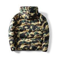 Manteau d'hiver Mode d'hiver Camouflage Imprimer 3 Stripe Veste chaude Veste Tendance Lettre à feuilles d'impression Mens vestes Hommes Vêtements d'extérieur Couvertures Taille S-2XL