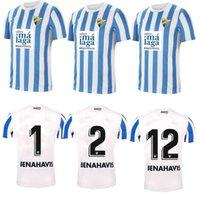 21/22 Malaga Soccer Jerseys Málaga 2021 2021 K. Bare Juanpi Adrian CF كرة القدم قميص بار شريط Casas Juankar Camiseta de Fútbol Juande Hombres Hombres