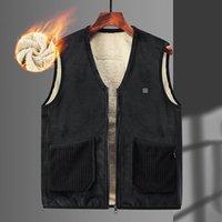 Women's Vests Autumn Winter Smart Heating Cotton Vest USB Infrared Electric Women Outdoor Flexible Thermal Warm Jacket#f3