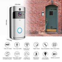 Caméra de cloche de porte sans fil WiFi QZT Smart Bague WIFI avec moniteur Vidéo Interphone Satellbell Carrier pour la sécurité domestique