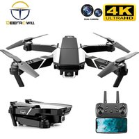 DeepAowill Drone 4 K HD Çift Kamera Görsel Konumlandırma 1080 P WIFI FPV Drone Yüksekliği Korunması RC Quadcopter S62 Pro Drones Oyuncaklar 210325
