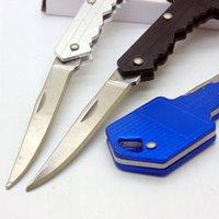A forma di cuore multifunzione a catena chiave coltello mini coltello tascabile pieghevole coltello da frutto coltello da esterno sciabolare svizzero knives a forma di autodifesa EDC strumento attrezzatura