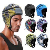 Cycling Helmets Prefessional Head Protector Air Rugby Headguards Soft Helmet Scrum Cap 7v7 Flag Football Headgearfor Adult Large