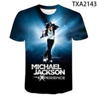 Nuevo Verano Michael Jackson 3D T Shirt Moda Hombres Mujeres Niños Casual Streetwear Boy Muchacha Niños Impreso Camiseta Fresca Tops Tee