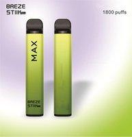 Hot Breze Stick Max Disposable Vape Pen Electronic Cigarettes 950mAh Battery 1800 Puffs 6ml Pod Pre-Filled Pods 8 Colors