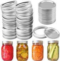 PCS Regular Boca Canning Lids Silver Mason Jar Tops Tipo Split-Type Reutilizable A prueba de fugas Almacenamiento Tapas de almacenamiento Organización de cocina